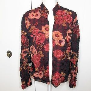 Coldwater creek rose ruched jacket